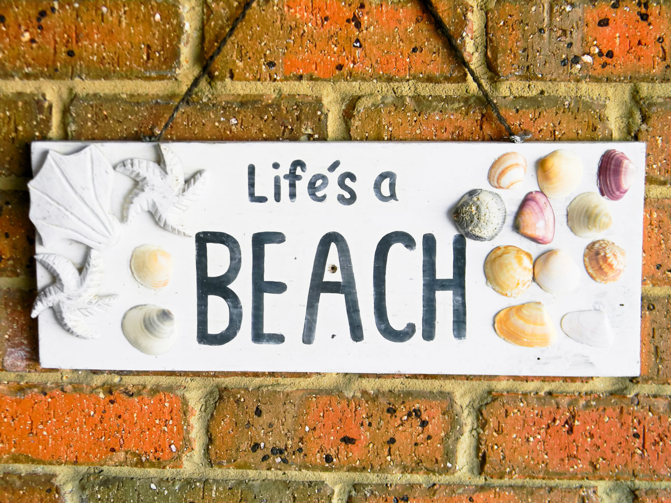 Lifes a Beach Sign